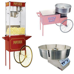 Pop Corn / Candy Floss Machines