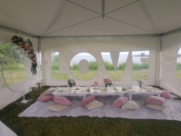 Love Tent Wall Backdrop