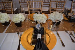 Black and Golden Wedding Theme